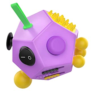 Simon 12 Sided Fidget Cube Decompression Toys for Children and Adults(Purple)