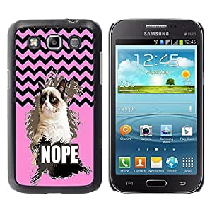 - Chevron Grumpy Cat - - Hard Plastic Protective Aluminum Back Case Skin Cover FOR Samsung GALAXY Win I8550 I8552 Queen Pattern