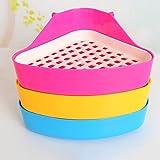 1Pcs Pet Small Rat Toilet, gloednApple Small Animal Hamster Guinea Pig Litter Tray Corner Color Random