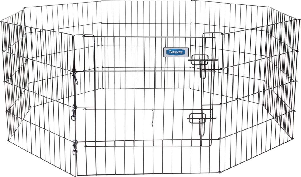 24 by 24 Petmate 55011 24-Inch by 24-Inch 8 Panels Exercise Pen with Step Through Door