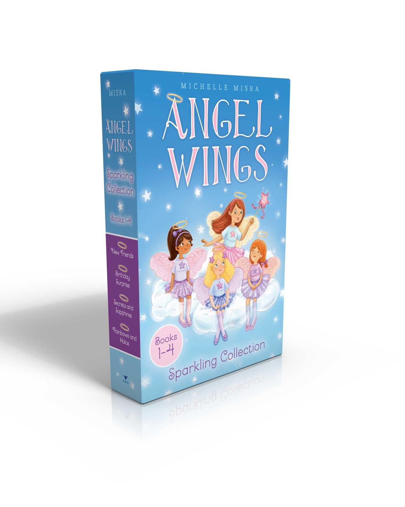 Download Angel Wings Sparkling Collection Books 1-4: New Friends; Birthday Surprise; Secrets and Sapphires; Rainbows and Halos pdf epub