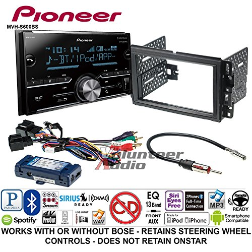 Pioneer MVH-S600BS Double DIN Radio Install Kit