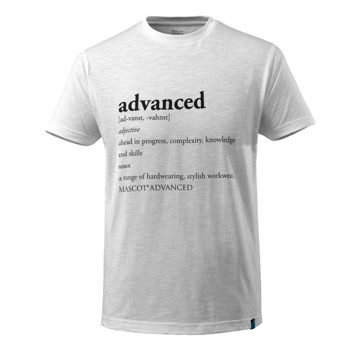 3XL Advanced Mascot 17181-983 T-ShirtAdvanced Text Wei/ß