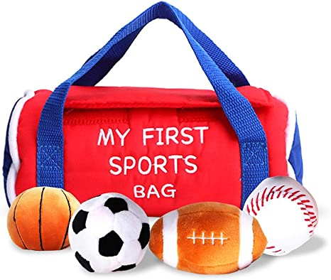 Baby Sports Bag Toddler Activity Ball Sets con relleno de peluche ...