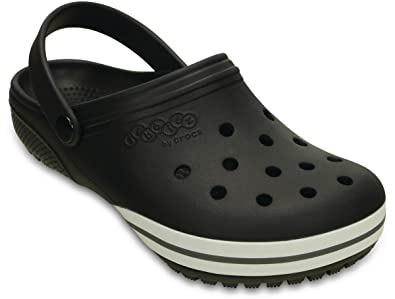 42a7f88fa0fb Image Unavailable. Image not available for. Color  Crocs Jibbitz kilby Clog  Black Relaxed Fit Unisex Mens 8 Womens 10