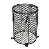 Katoot@ Reptile Heat Mesh Cage Protector Guard Lamp Light Bulb Enclosure 13x16.5cm Round Terrarium Spiders Ants Scorpions Lizards
