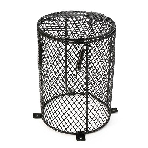 Katoot@ Reptile Heat Mesh Cage Protector Guard Lamp Light Bulb Enclosure 13x16.5cm Round Terrarium Spiders Ants Scorpions Lizards by Katoot