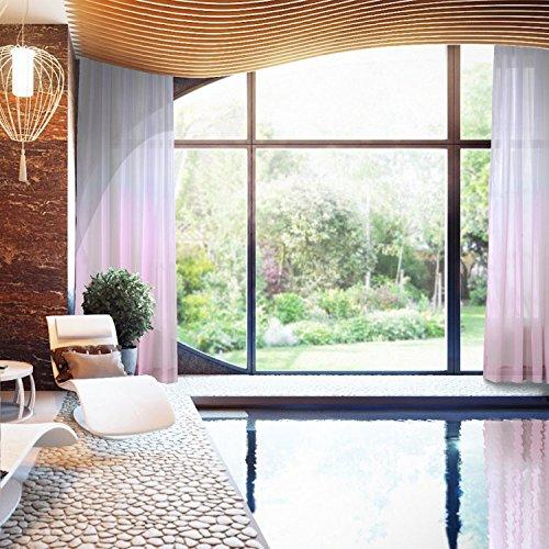 Indoor Outdoor Gradient Ombre Sheer Curtain Tab Top Pink 52