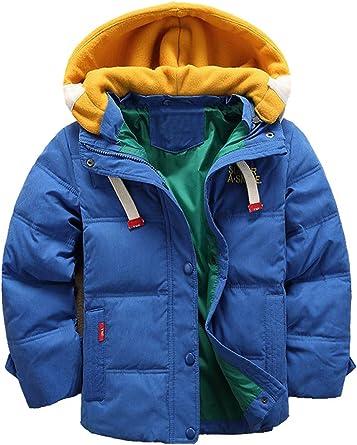 Odziezet Manteau Hiver Enfant Garçon Bébé Hiver Doudoune Veste Capuche Hoodie Blouson Fourrure Fausse Jacket 4 11 Ans