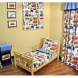 Bacati Transportation Multicolor 4 Piece Toddler Bedding Set