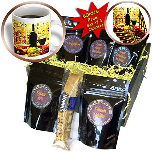 Fruit Food – Wine Bread Cheese Grapes – Coffee Gift Baskets – Coffee Gift Basket (cgb_871_1)