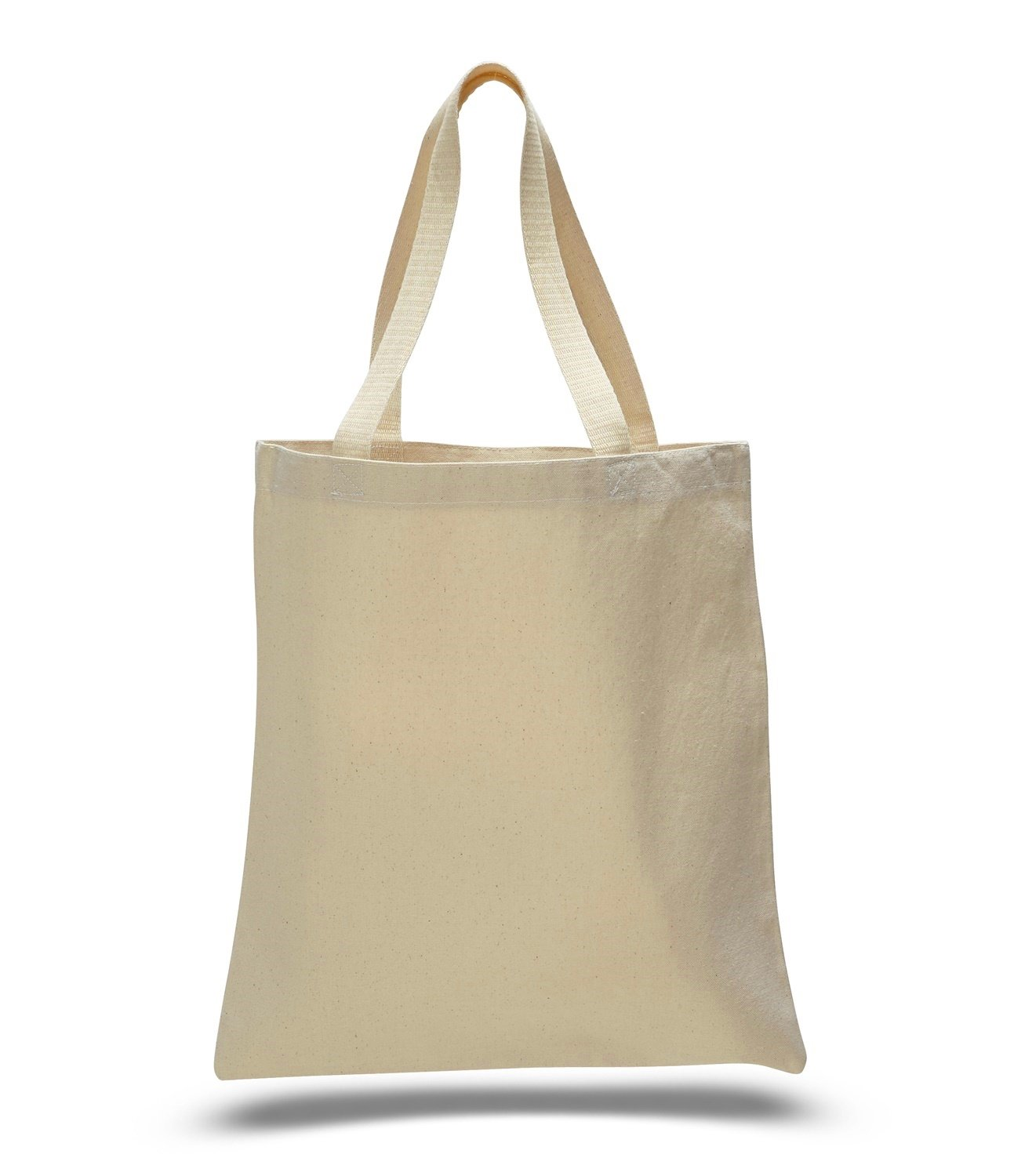 Natural Color Heavy Cotton Canvas Tote Bag (50, Natural) by ToteBagFactory