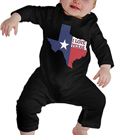 Love Texas Newborn Baby Long Sleeve Bodysuits Rompers Outfits