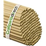 3/8 Inch x 48 Inch Wooden Dowel Rods - Unfinished Hardwood Dowels For Crafts & Woodworking - By Craftparts Direct - Bag of 25
