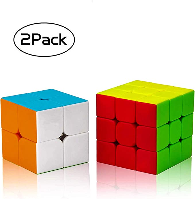 D Eternal Rubiks Cube Combo Set of 2 Rubix Cube 2X2 3x3 Rubic Cube high Speed stickerless Magic Rubik Puzzle Rubick Cube Brainstorming Game Toy