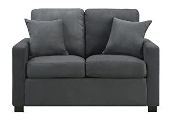 Urban Home Furniture Sophia Loveseat W/ Pillow Grey