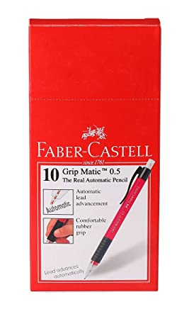 Faber-Castell Grip-Matic Mechanical Pencils - 0.5mm (Assorted) Mechanical Pencils at amazon