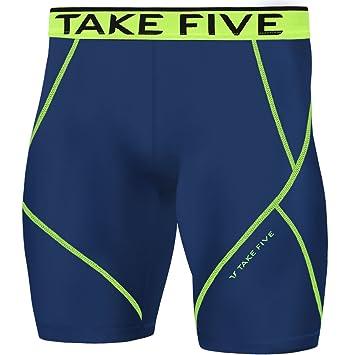 NP525 medias de compresión ropa deportiva hombres Base capa de piel  pantalones cortos Azul azul marino 835a8aa7b512
