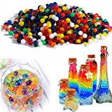 Awkli 5000pcs Crystal Water Gel Beads Pearls Soil Growing Water Balls Bulk for Vase Filler,Plants Decoration,Toys,Wedding Centerpiece (Colorful)