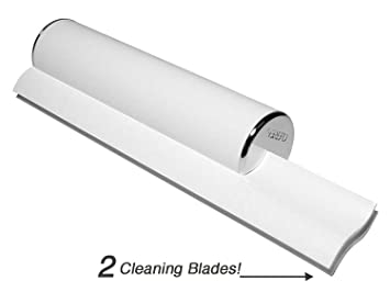 Cleret ELITE Bath U0026 Shower Squeegee With Chrome End Caps U0026 Dual White  Cleaning Blades Made