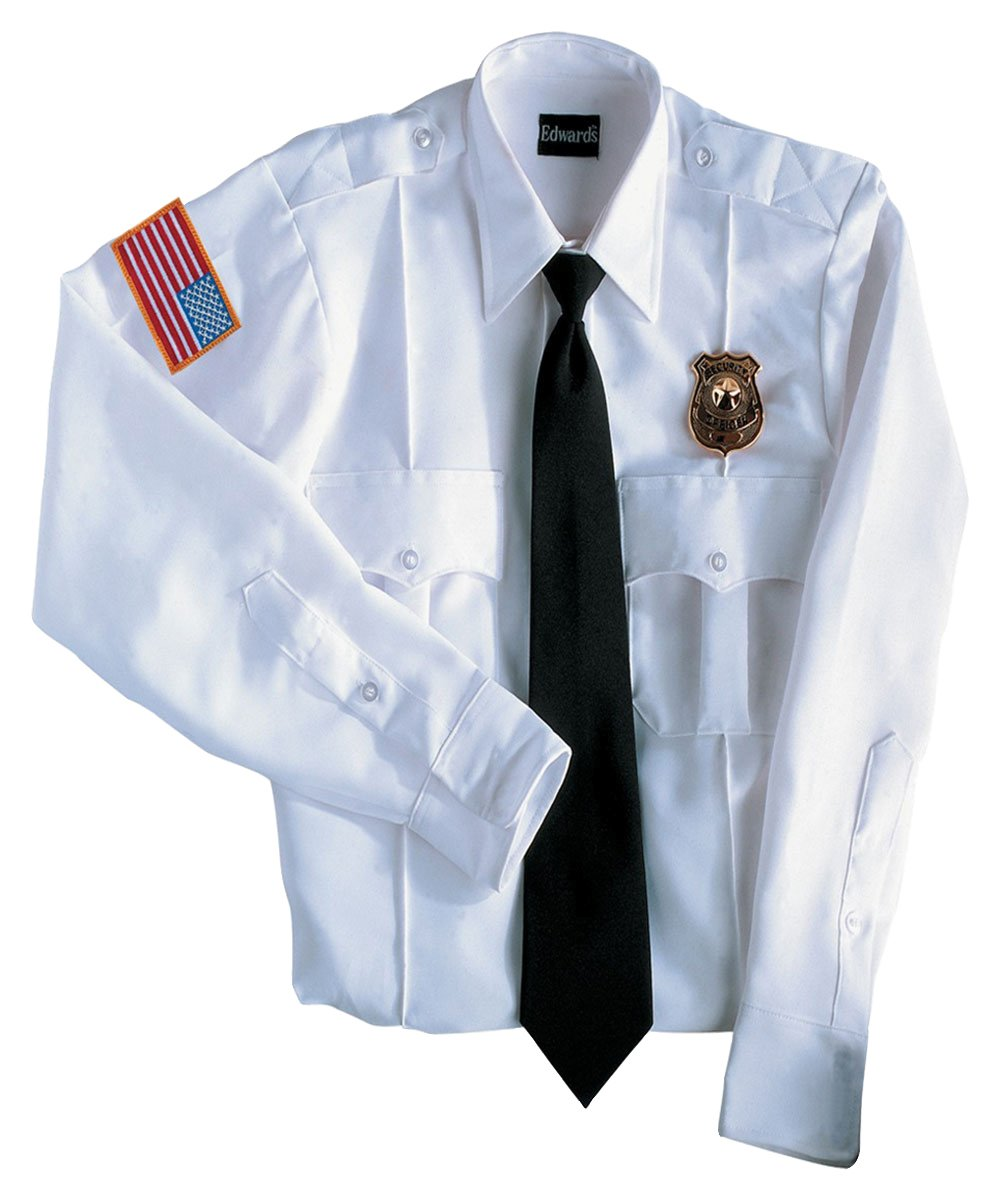 Ed Garments Permanent Collar Stays Security Shirt, WHITE, Medium 33
