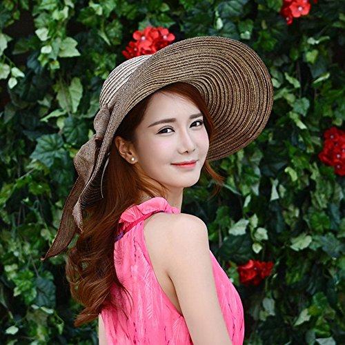 Gladiolus Damas Chicas Sombrero de Verano Grande Sombrero de Playa Sombrero  de Sol para Viajes Outdoor Adulto Café  Amazon.es  Deportes y aire libre e460fec170f