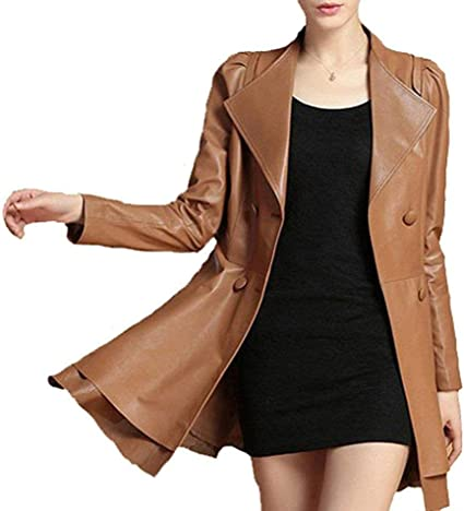 ABelal Genuine Leather Jacket Brown