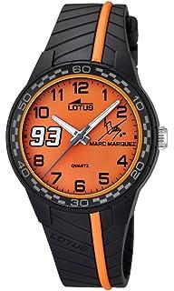 Lotus Marc Marquez, Junior, de niño, Color Naranja, Reloj de Hombre de Cuarzo con Esfera…