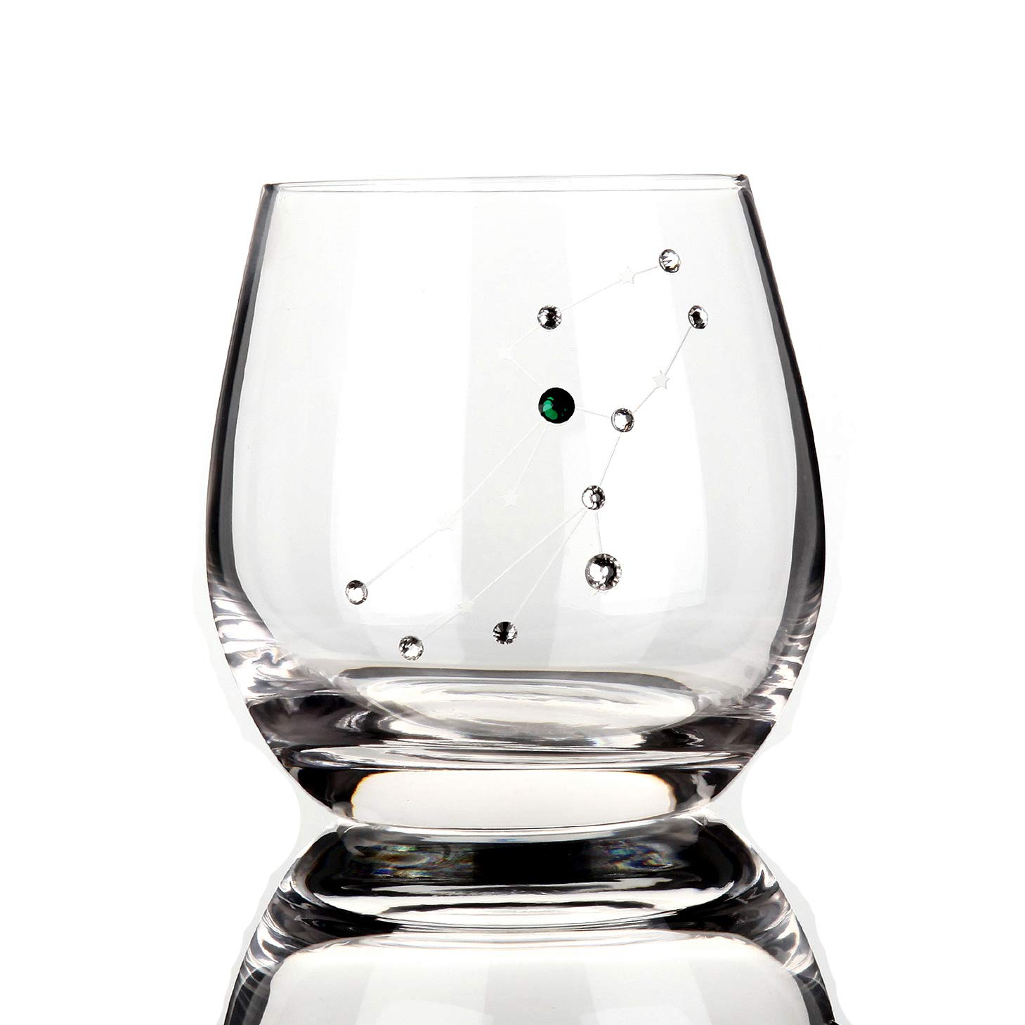 Detailz Zodiac Virgo Sign Wine Glasses Water Glasses,Constellation Acessories Gifts,11 Ounce (Virgo)