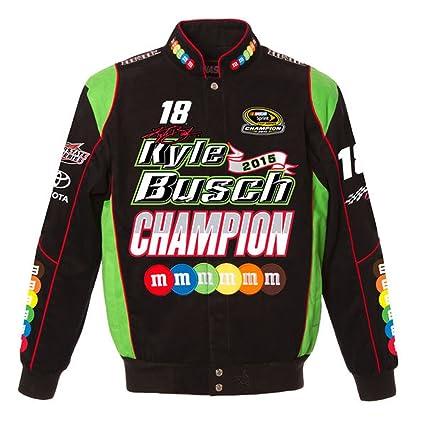 amazon com kyle busch 2015 nascar sprint cup champion jacket by jh