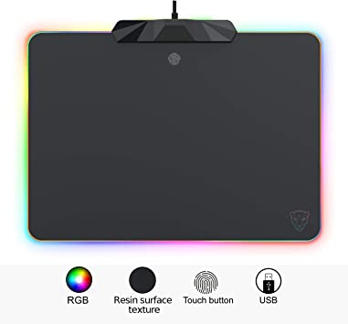 RGB Colorful LED Lighting Gaming Mouse Pad Mat for PC Laptop SL