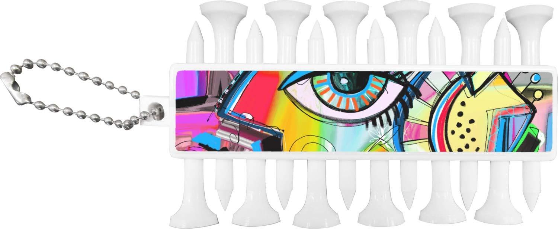 抽象Eye Paintingゴルフティー&ボールマーカーセット   B0764KMRB6