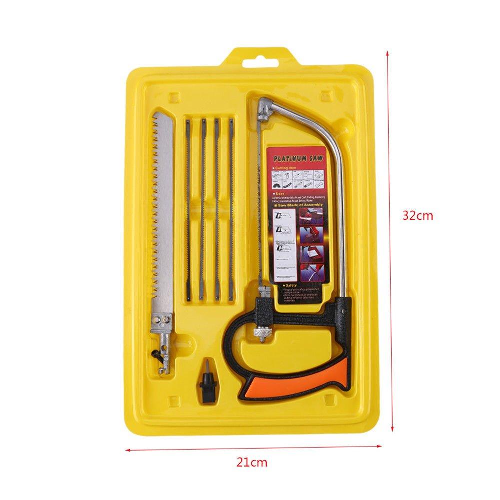 Quici Magic serrucho Set, DIY multiusos sierra de arco sierra para metales Universal sierra para carpintería herramienta para madera de trabajo, cocina, ...