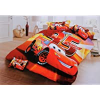 Blenzza Deco® Glace Cotton Cartoon Print Comforter for Double Bed with Attractive Luxury Bag Packing-car