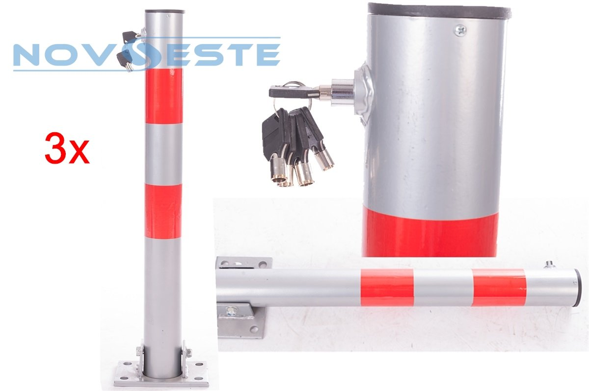 Ectxo electric parking barrier, stainless steel, folding park watch, parking post