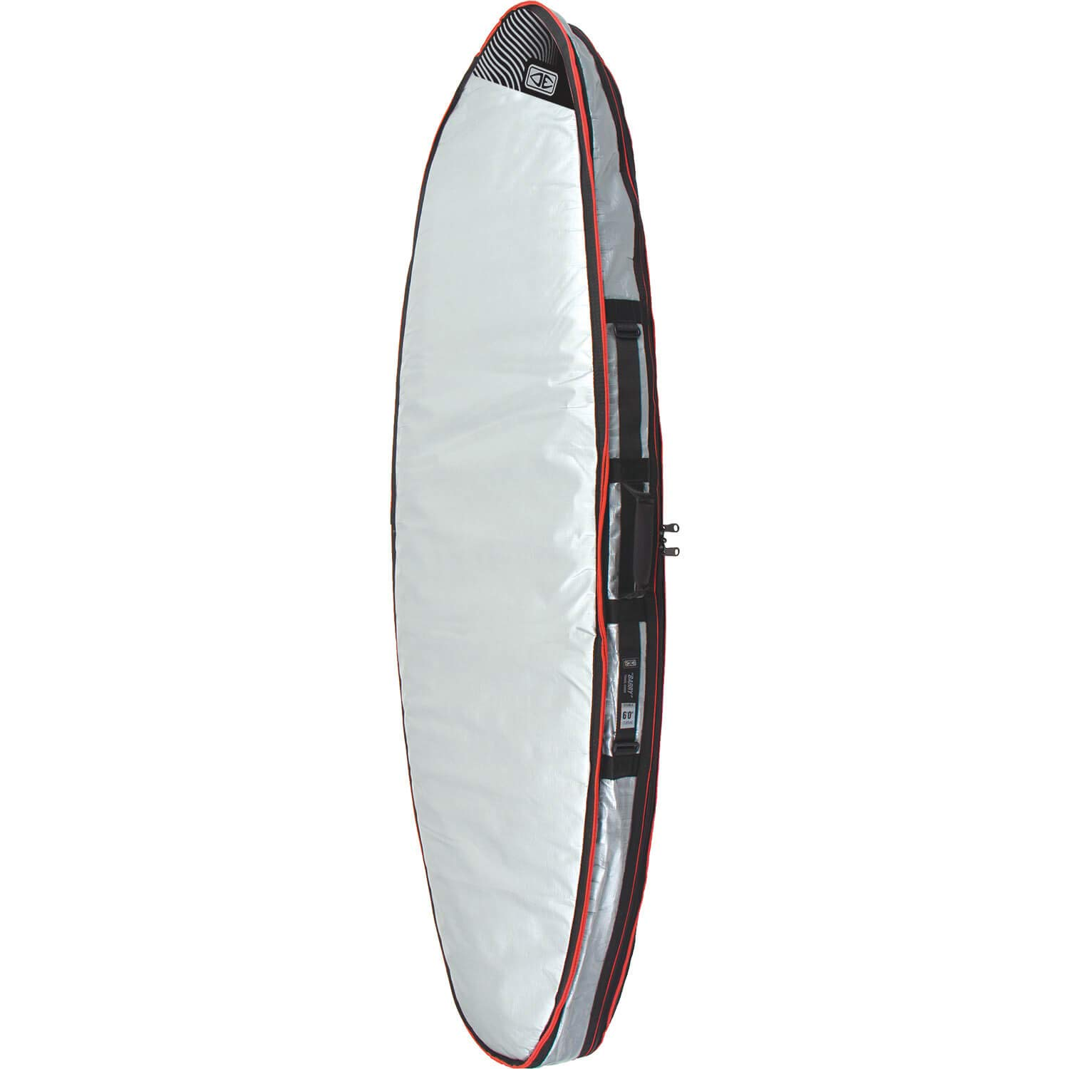 Ocean and Earth Barry Basic Silver Double Shortboard Board Bag - 6'4''