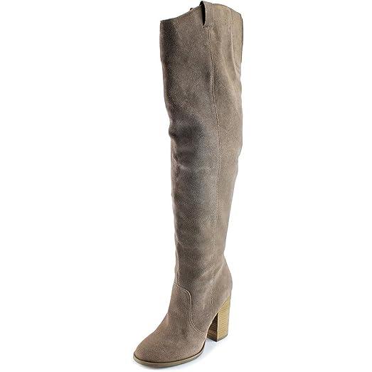 Carlos by Carlos Santana Galina Women US 65 Gray Over The Knee Boot