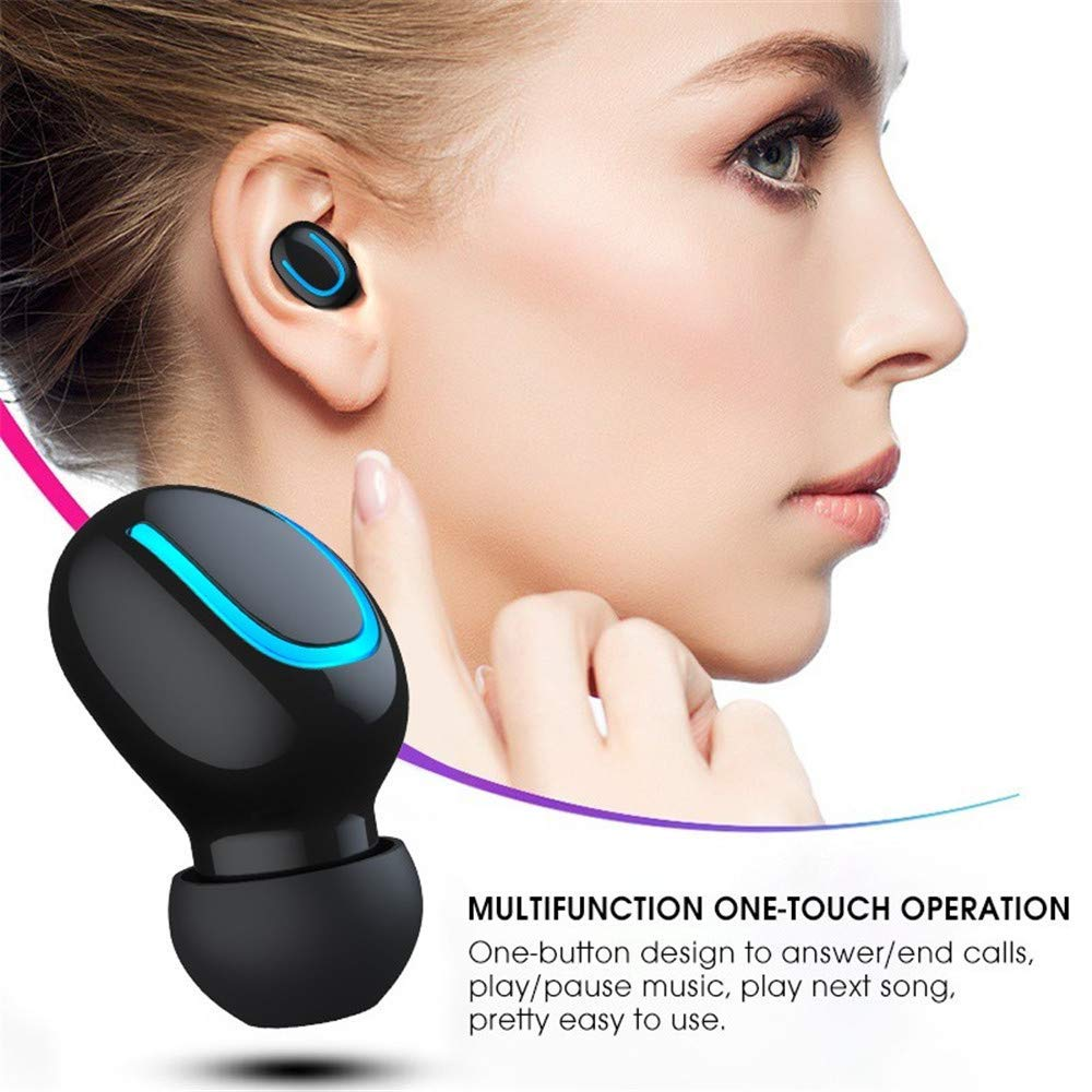 Wireless Earbuds, TWS 5.0 Bluetooth Wireless Headphones Headset True Wireless Earphones Waterproof Bluetooth Earphones with Mic and Charging case for iPhone Samsung iPad and Most Android Phones by Ayans (Image #3)