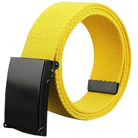 Doitsa cinturón de tela tela para hombre y mujer cinturón trenzado cinturón en lienzo décontractée para jóvenes/Etudiants Size… pksYWMyID