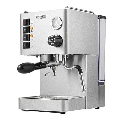 LBX Máquina de café Comercial Espresso Bomba semiautomática Presión Vapor 2 Calderas