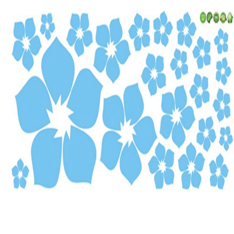 Amazon.com: Chitop Removable Beautiful Flowers Wall Sticker ...