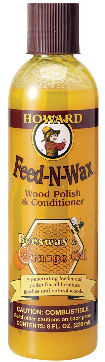 Howard FW0008 Feed-N-Wax Wood Polish and Conditioner, 8-Ounce by Howard Products