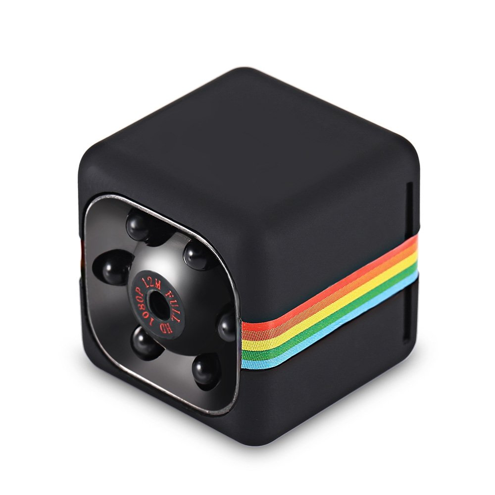 Mini Camera HD Super 1080P Small Camera Portable Tiny Camcorder Car DVR with Night Vision and Motion Detection Security Camera for Car Home and Office Surveillance Skiing Outdoor Cycling