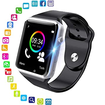PHIPUDS Smartwatch, Reloj Inteligente Android con Ranura para Tarjeta SIM,Pulsera Actividad Inteligente para Deporte, Reloj Iinteligente Hombre Mujer ...