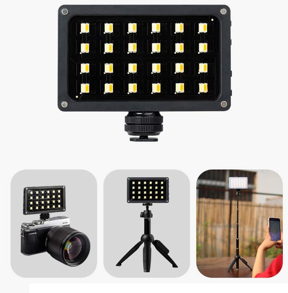 LGQ-SMA LED Fill Light Video Light,Mini Hand-held DSLR Camcorder Video Filming and Macro Photography Camera Led Light with 3000mAh Battery