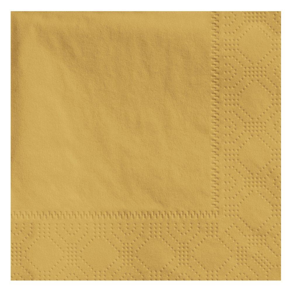 Hoffmaster 180345 Beverage Napkin, Regal Embossed, 2-Ply, 1/4 Fold, 9-1/2'' Length x 9-1/2'' Width, Glittering Gold (4 Packs of 250)