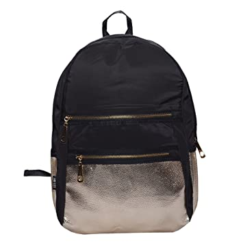 5c77894a1123 Ruff Shoulder Stylish Women s Girls Backpack(Black)  Amazon.in  Bags ...
