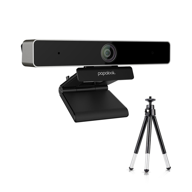Webcam 720P, PAPALOOK PA150 Web Cam PC avec Microphone Anti-bruit, Plug et Play, USB Camé ra Pour Skype MSN, AOL Instant Messenger, Youtube, Webcam USB Compatible avec Windows XP / Vista / 7 / 8 / 10 USB Caméra Pour Skype MSN
