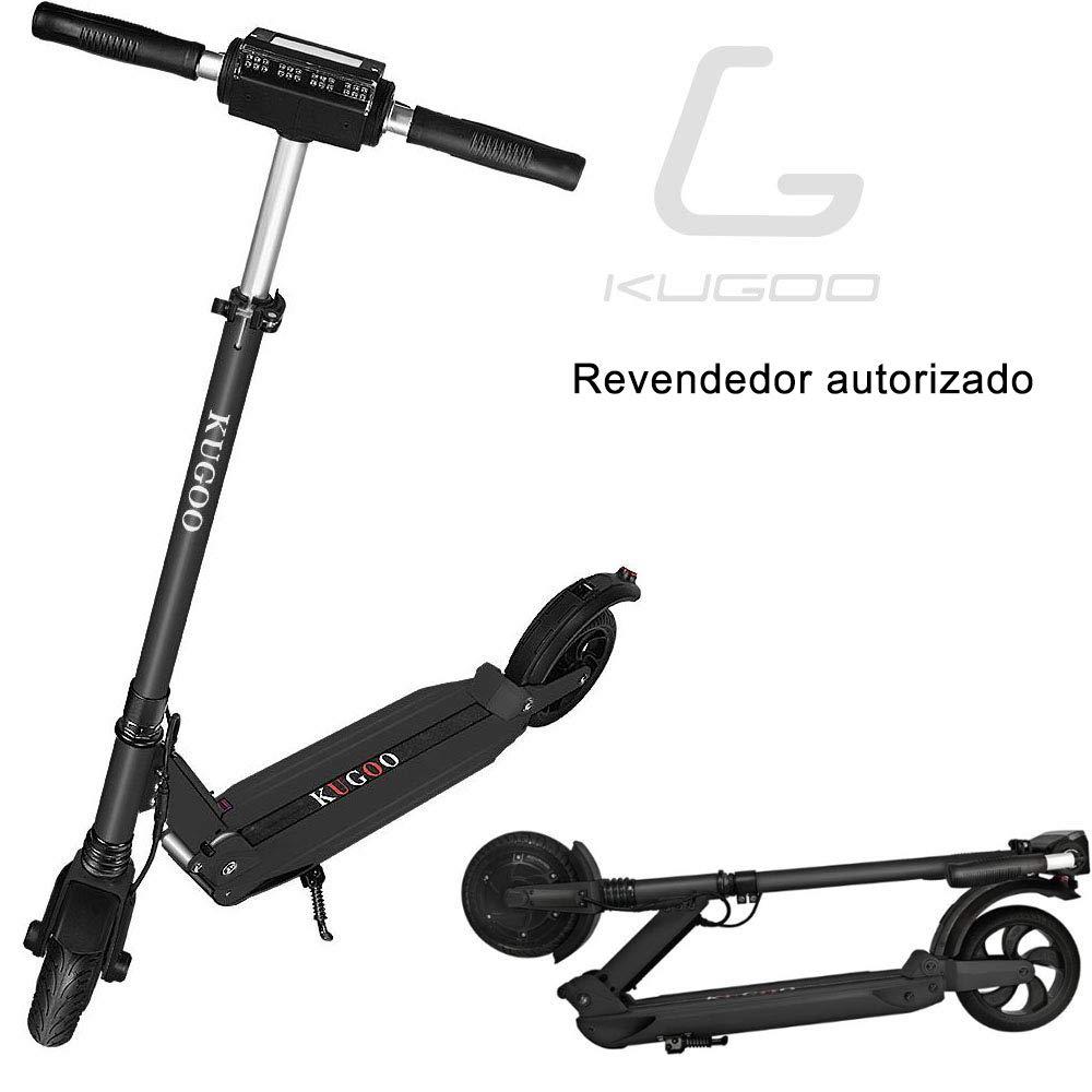 GoZheec KUGOO S1 Patinete Eléctrico E-Scooter de 350 vatios y 30 km con 35 km/h Velocidad máxima e-Scooter Plegable para Adolescentes Y Adultos con ...