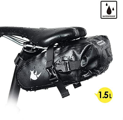 Waterproof Bike Seat Bag PVC Cycling Under Seat Tail Pouch Bicycle Saddlebag
